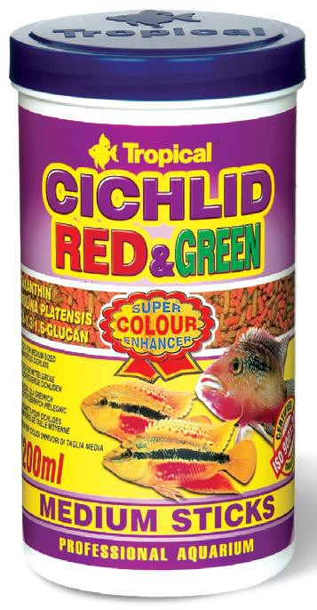 CICHLID RED&GREEN MEDIUM STICKS 5L